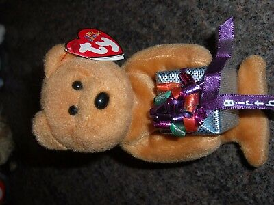 ty 2004 happy birthday beanie bear 5.5inches collectable