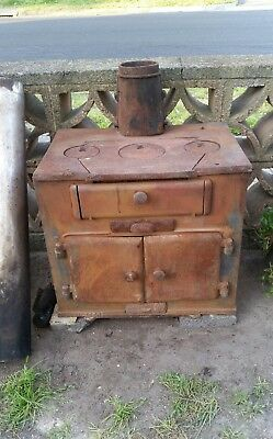 Metters Chef Cast Iron Stove , Cook Top Vintage In Good Order.  Wood Burning Etc
