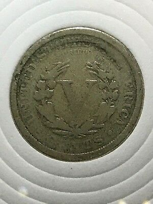 1893 American Liberty V Nickel brokerage Error coin from private collection Rare
