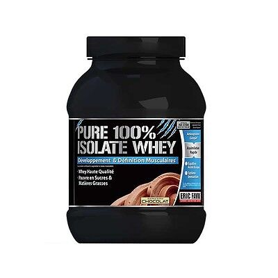 ♡♡ Eric Favre PURE 100% ISOLATE CHOCOLAT 750g MUSCULATION EFFORT ♡♡MONDIAL RELAY