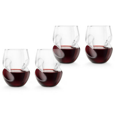 NEW Final Touch Conundrum Red Wine Glass Set 4pce