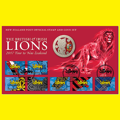 2017 British & Irish Lions Stamp and Coin pack!!!!LIMITED EDITION!!!