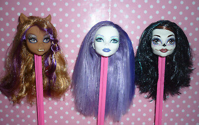 Monster High Dolls Skelita, Spectra & Clawdeen Replacement heads for OOAK/Custom