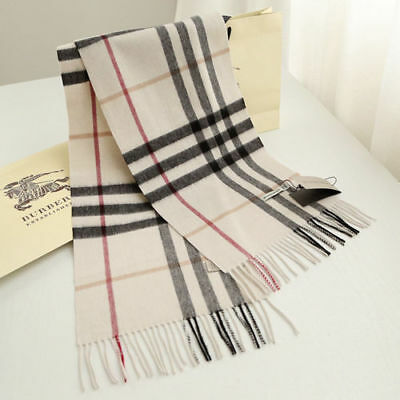 SCARF++100% CASHMERE AUTHENTIC SCARF BEIGE WITH TAG BRAND NEW Multi-Color