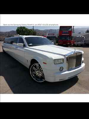 "2004 Rolls-Royce Phantom Rolls Royce Phantom 4 door White, Excellent condition, limousine, marble floor, 180"" stretch, sound system."