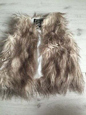 Girls River Island Fur Gilet Age 3