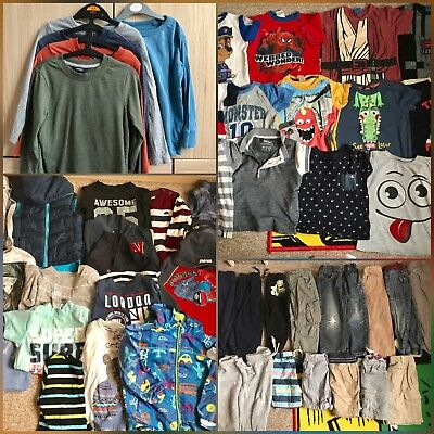 Joblot Bundle Boys Clothes Tops Short Jean Trousers Coat 2-3 Years (53 Items)