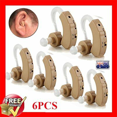 2/4/6PCS Digital Hearing Aid Adjustable Ear Sound Amplifier Acousticon Aid Kit B