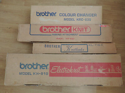 Brother Electroknit KH-910 Knitting Machine (needs repair) KR-830/KL-116/KRC-830