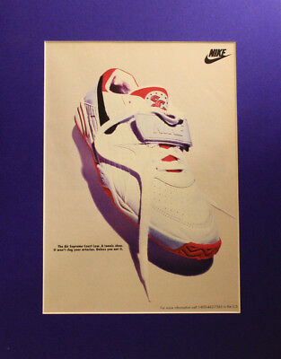 Vintage 1993 Nike Supreme Court Low Shoe Poster Print Ad 11x14 Ready to Frame