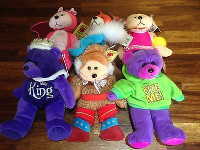 """Gifted Bear ~ 6 Assorted X Shop Stock With Tags Job/bulk Lot 8"""" Or 22 Cm  (A)"""