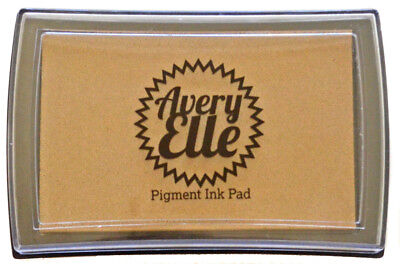 Avery Elle Pigment Ink Pad - Kraft - Includes free ink refill