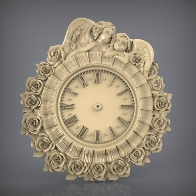 (888) STL Model Clock for CNC Router 3D Printer  Artcam Aspire Bas Relief