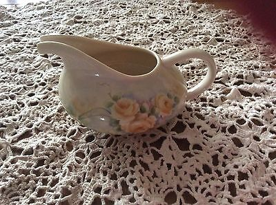 Vintage Handcrafted Tea Pot with Yellow Roses Signed