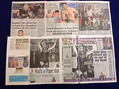Madonna MDNA Skincare Promo Pics & Family + More UK Newspaper clippings cuttings