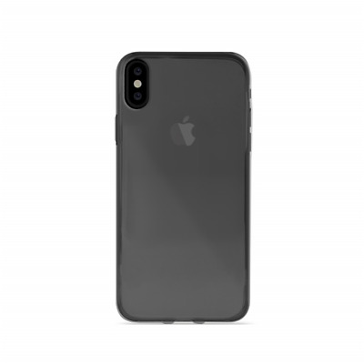 PURO Cover Silicone ULTRA SOTTILE 0.3mm NUDE per IPHONE X Flessibile NERO Opaca