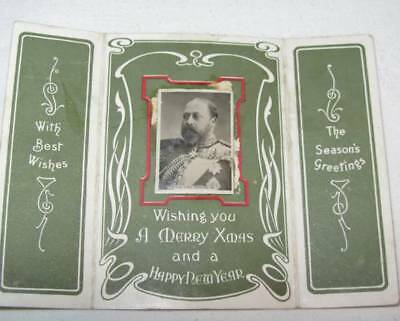 Edwardian Port Sunlight Cottages/Edward Vll Photograph Christmas Greetings Card