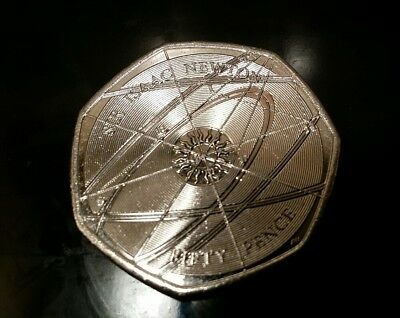 2017 RARE SIR ISSAC NEWTON 50p UNCIRCULATED FROM SEALED BAG.