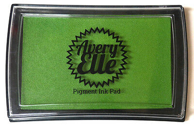 Avery Elle Pigment Ink Pad - Celery - Includes free ink refill