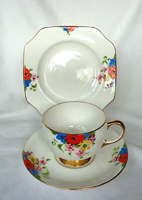 CARLTON WARE. authentic ART DECO CUP & SAUCER. hand painted. 4693D. c.1925. MINT