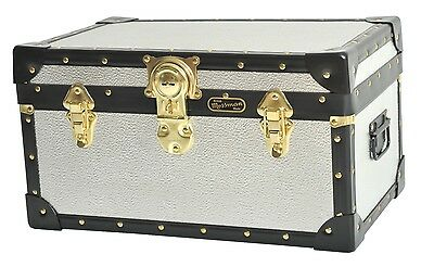 SILVER Stucco Alloy Traditional British Mossman Made Boarding School Tuck Boxes