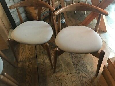 Solid Wood, Grey Seat Stackable Restaurant Chair