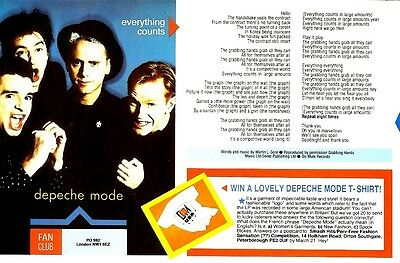 Sh89-21/3P23 Depeche Mode : Everything Counts Songwords