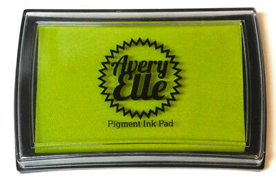 Avery Elle Pigment Ink Pad - Lemongrass - Includes free ink refill