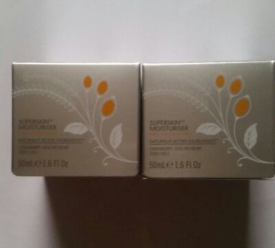 2x50ml Liz Earle Superskin Mosturizer With Natural Neroli new with box fresh