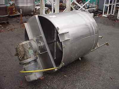 150 gallon SANITARY STAINLESS STEEL 1 Hp sweep agitated JACKETED TANK