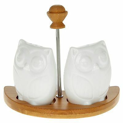 White Bamboo Owl Cruet Set JD 35301