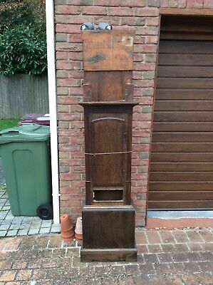 Genuine Antique Grandfather Clock Case For Restoration