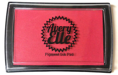 Avery Elle Pigment Ink Pad - Raspberry - Includes free ink refill