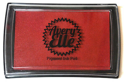 Avery Elle Pigment Ink Pad - Cherry - Includes free ink refill