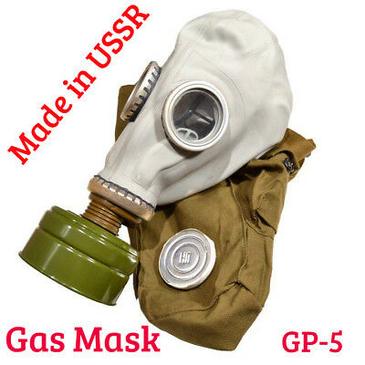 4pcs USSR Gas Mask Full Set Soviet Russian Grey Rubber GP-5 ANY SIZE Противогаз