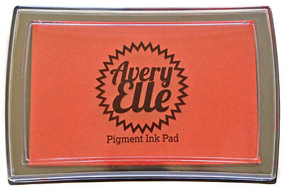Avery Elle Pigment Ink Pad - Papaya - Includes free ink refill