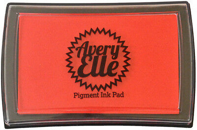 Avery Elle Pigment Ink Pad - Strawberry - Includes free ink refill