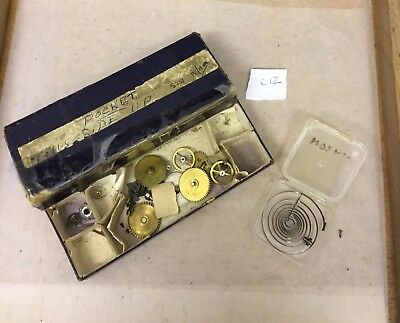 Pocket Watch Parts & Spring. Interesting lot as Watchmaker has retired. 12