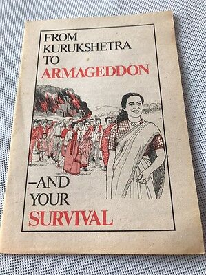 """1982 Booklet """"From Kurukshetra to Armageddon & Your Survival"""" Watchtower JW.ORG"""
