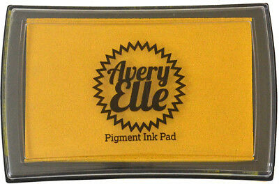 Avery Elle Pigment Ink Pad - Mustard Seed - Includes free ink refill