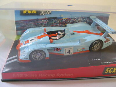 Scx - Scalextric Compatible 61000 Audi R8 Gulf #4  New Boxed Deleted Collectable