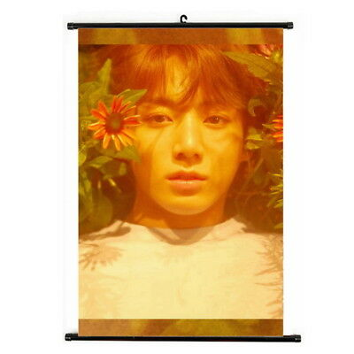 Kpop Bangtan Boys JUNG KOOK Love Yourself Hanging Painting Art Poster