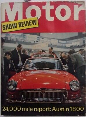 Motor Magazine Oct 1966 Earls Court Show Review 1