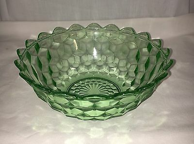 "Jeannette CUBE/CUBIST GREEN *7 1/4"" POINTED EDGE BOWL*"