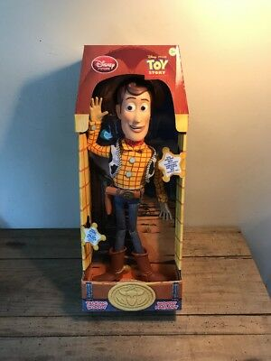"Genuine Disney Store Toy Story 16"" Talking Woody"