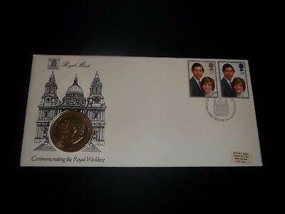 1981 Royal Wedding Royal Mint Coin Cover First Day Cover - Fdi London