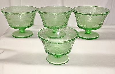 """4 Federal PATRICIAN GREEN *2 3/4"""" SHERBETS*"""