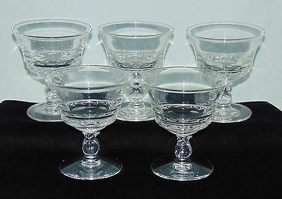 """5 Fostoria CENTURY CRYSTAL *4 1/4"""" LOW FOOTED SHERBETS*"""