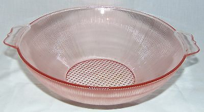 """Jeannette HOMESPUN PINK *8 1/4"""" LARGE BERRY BOWL*"""