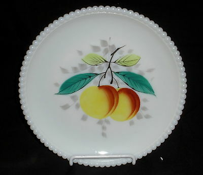 "Westmoreland BEADED EDGE FRUITS PEACHES *7 1/4"" SALAD PLATE*BE-17"